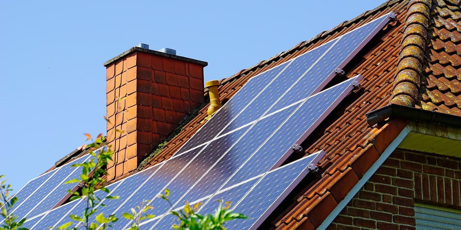 solar panel installed on house roof