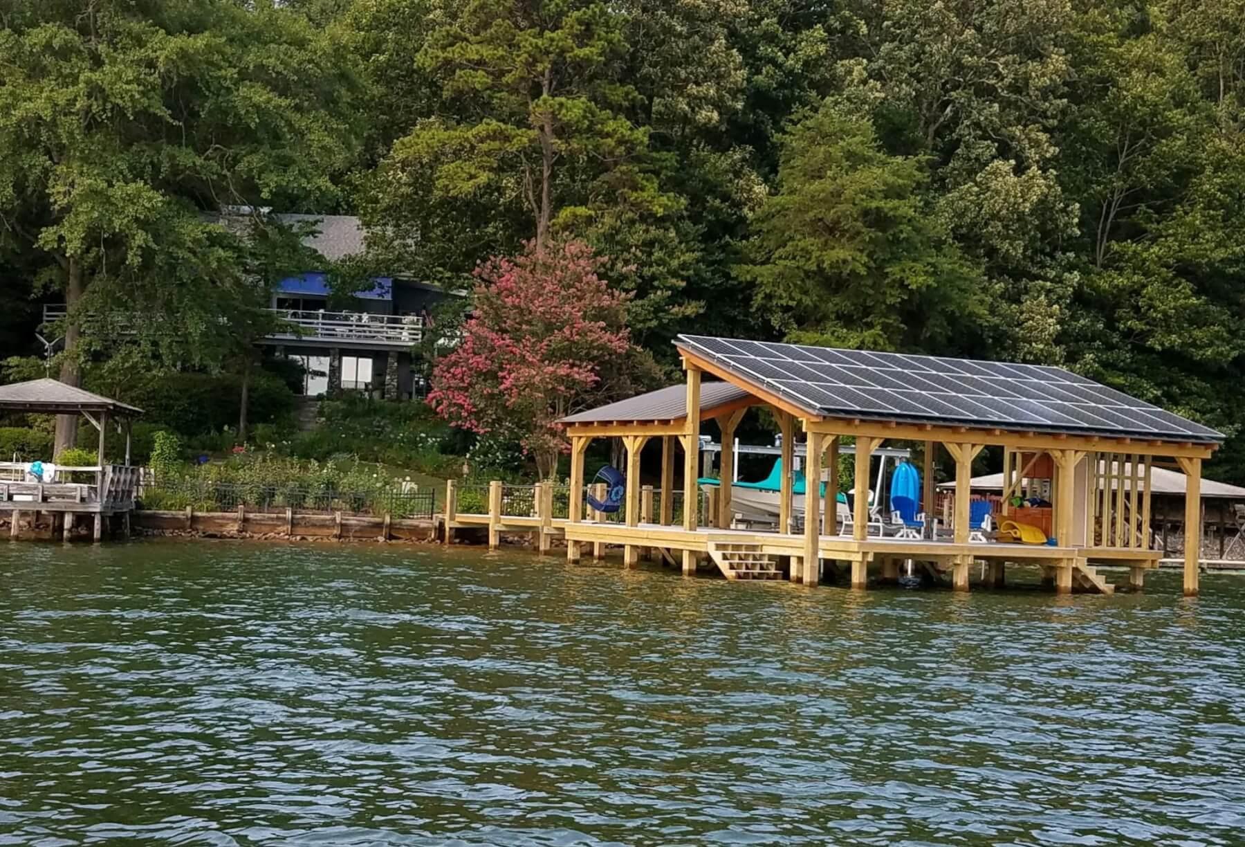 Lake Norman Solar Dock