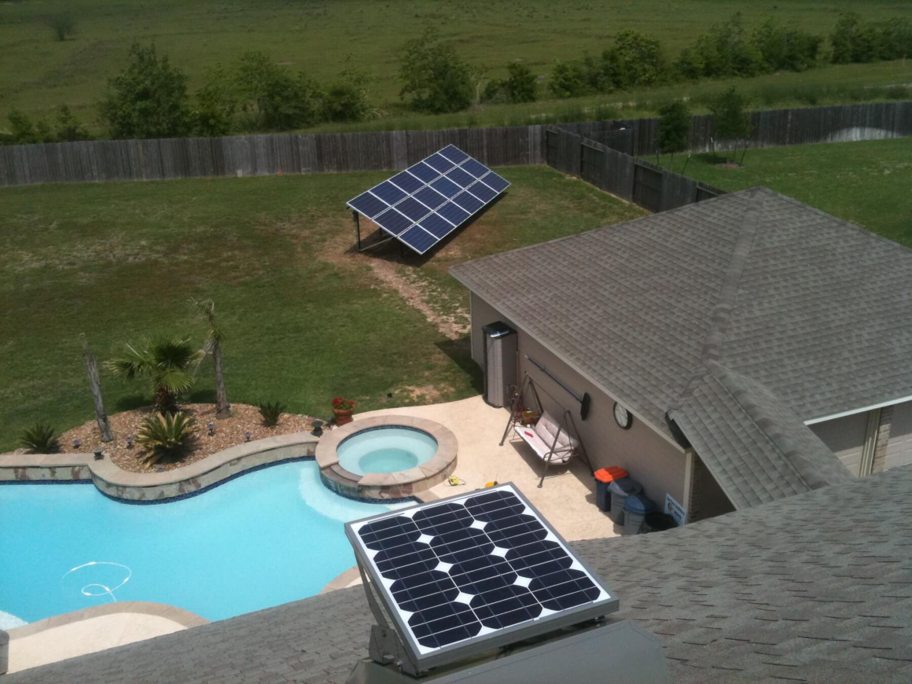 Residential Solar Attic Fan and PV Ground Mount