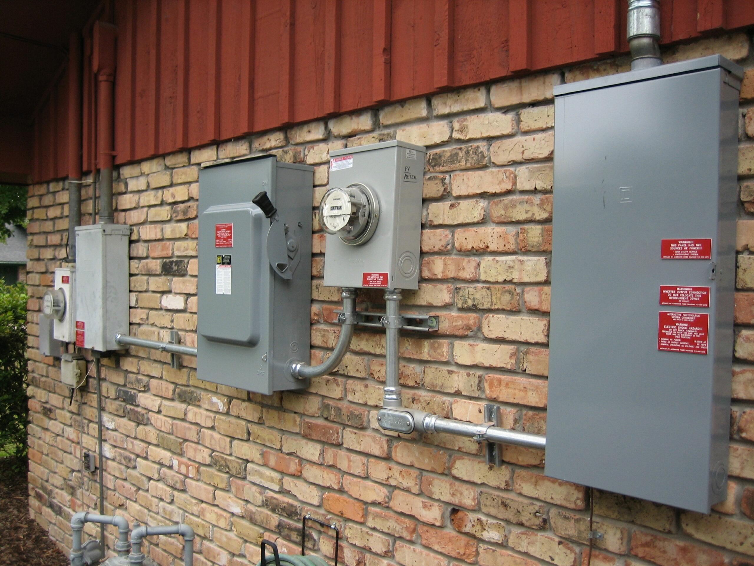 Solar panel meters